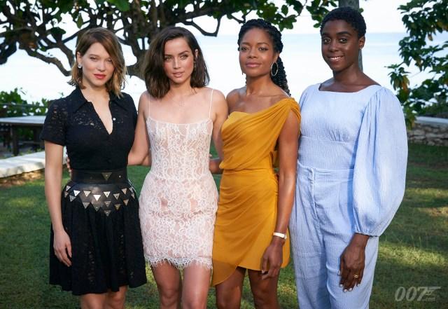 Léa Seydoux, Ana de Armas, Naomie Harris y Lashana Lynch participan en Bond 25 (2020). Imagen: 007.com