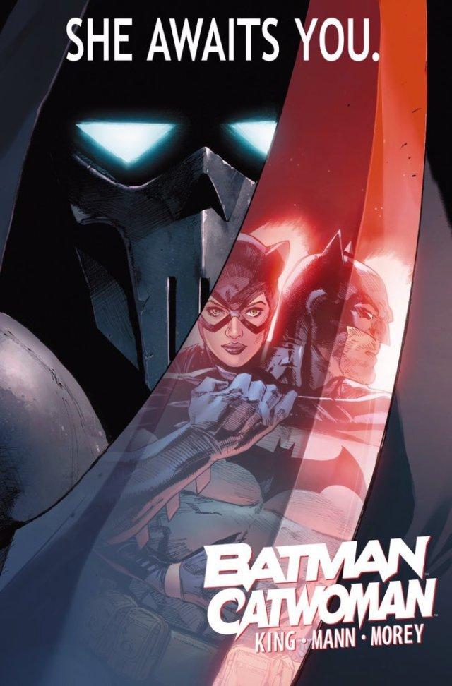 Arte de Batman/Catwoman (2020) por Clay Mann. Imagen: Cortesía: Tom King Twitter (@TomKingTK).