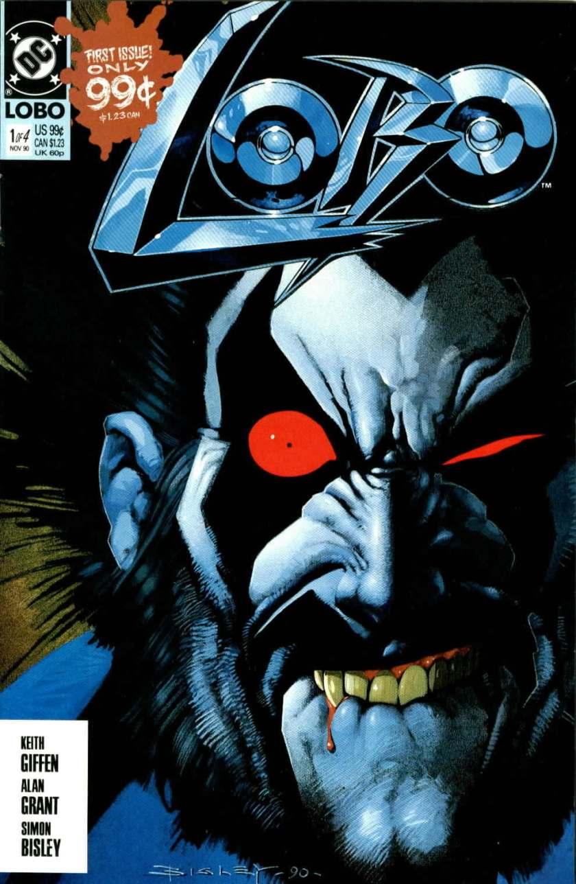 Portada de Lobo #1 (noviembre de 1990). Imagen: comicsvortex.com