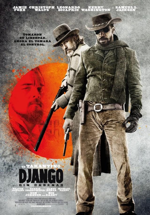 Póster en español de Django Unchained (2012). Imagen: impawards.com