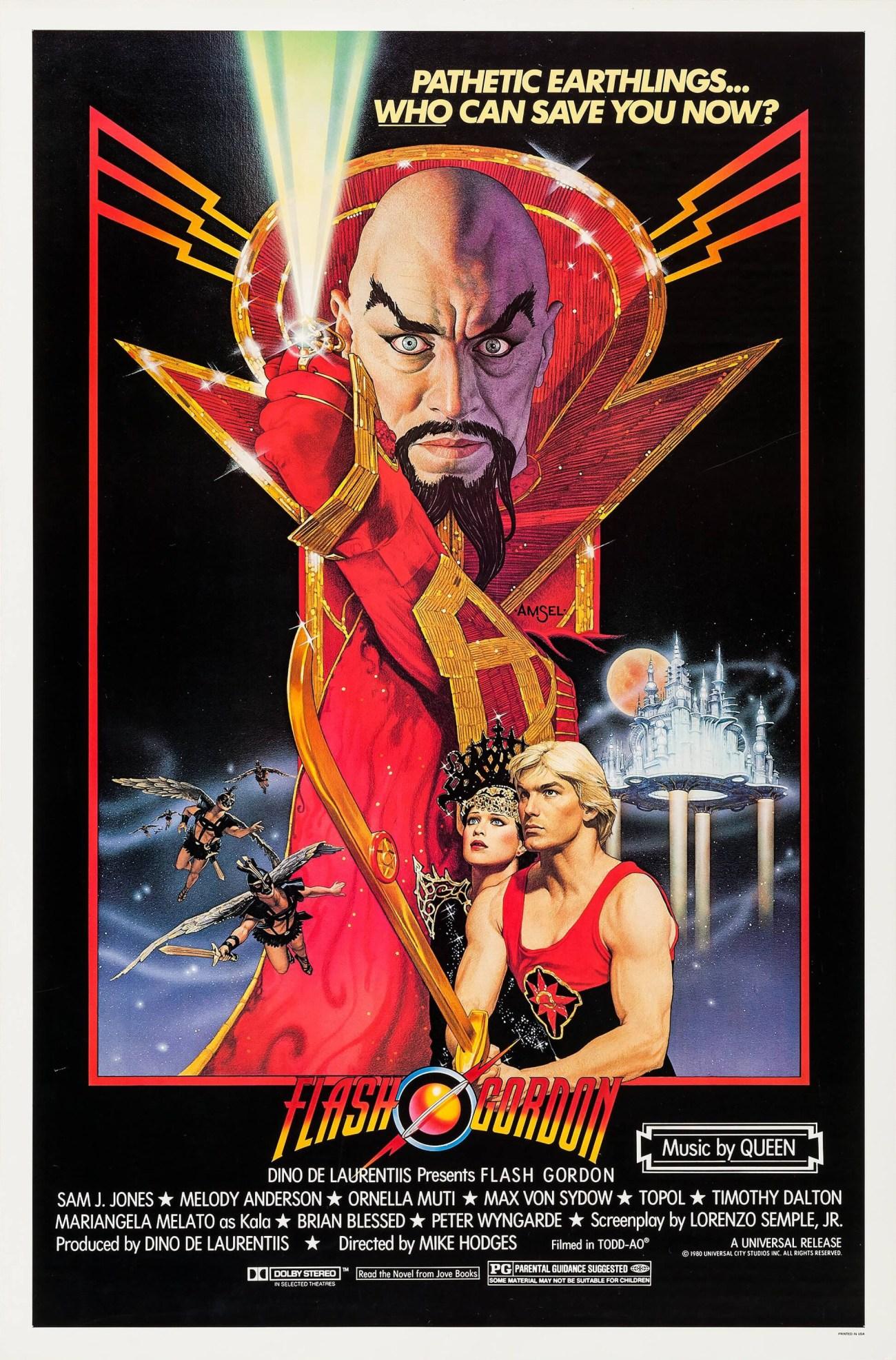 Póster de Flash Gordon (1980). Imagen: impawards.com