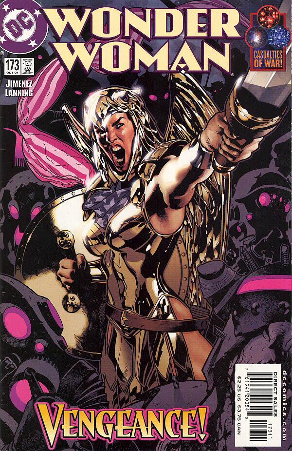 Portada de Wonder Woman #173 (octubre de 2001). Imagen: Archivo.