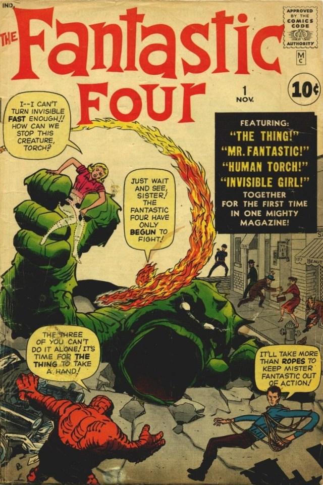 Portada de The Fantastic Four #1 (noviembre de 1961). Imagen: pinterest.com