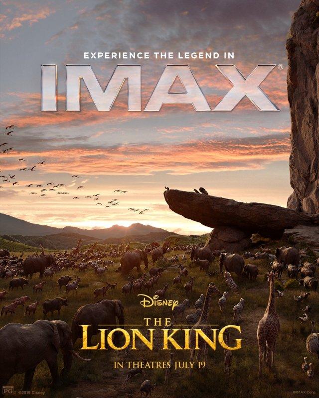 Póster IMAX de The Lion King (2019). Imagen: IMAX Twitter (@IMAX).