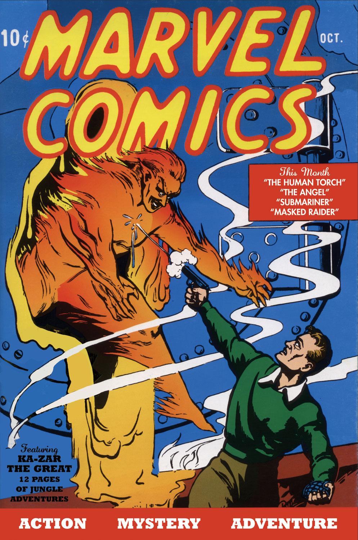 Portada de Marvel Comics #1 (octubre de 1939). Imagen: marvel.fandom.com