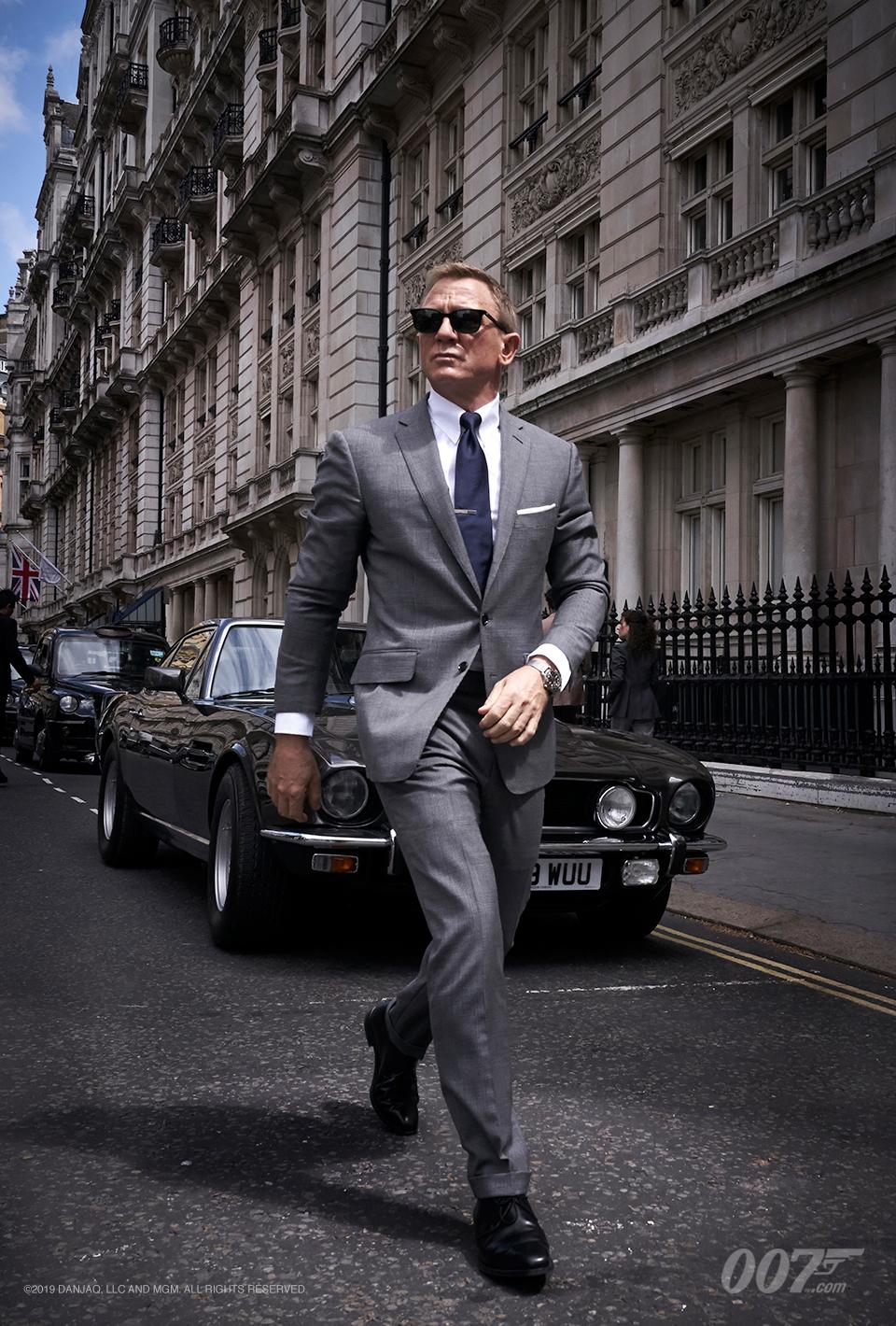 Daniel Craig como James Bond en Bond 25 (2020). Imagen: 007.com