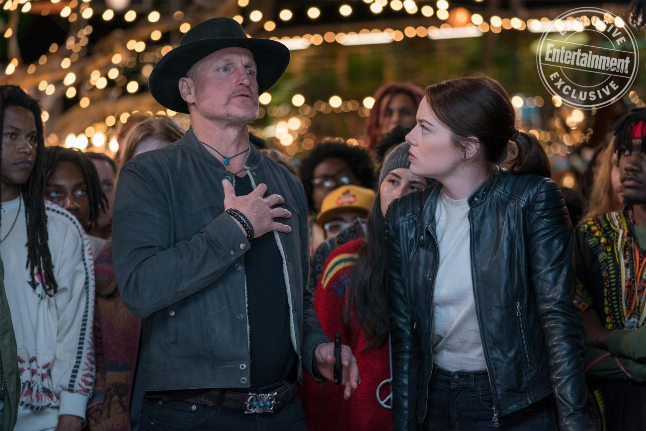 Woody Harrelson como Tallahassee y Emma Stone como Wichita en Zombieland: Double Tap (2019). Imagen: Jessica Miglio/Columbia Pictures/Entertainment Weekly
