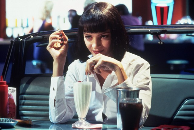 Uma Thurman como Mia Wallace en Pulp Fiction (1994). Imagen: Snap/REX/Shutterstock