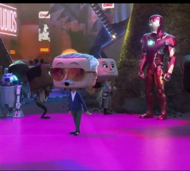 Stan Lee (1922-2018) en Ralph Breaks the Internet (2018). Imagen: Movie Details Twitter (@moviedetail).