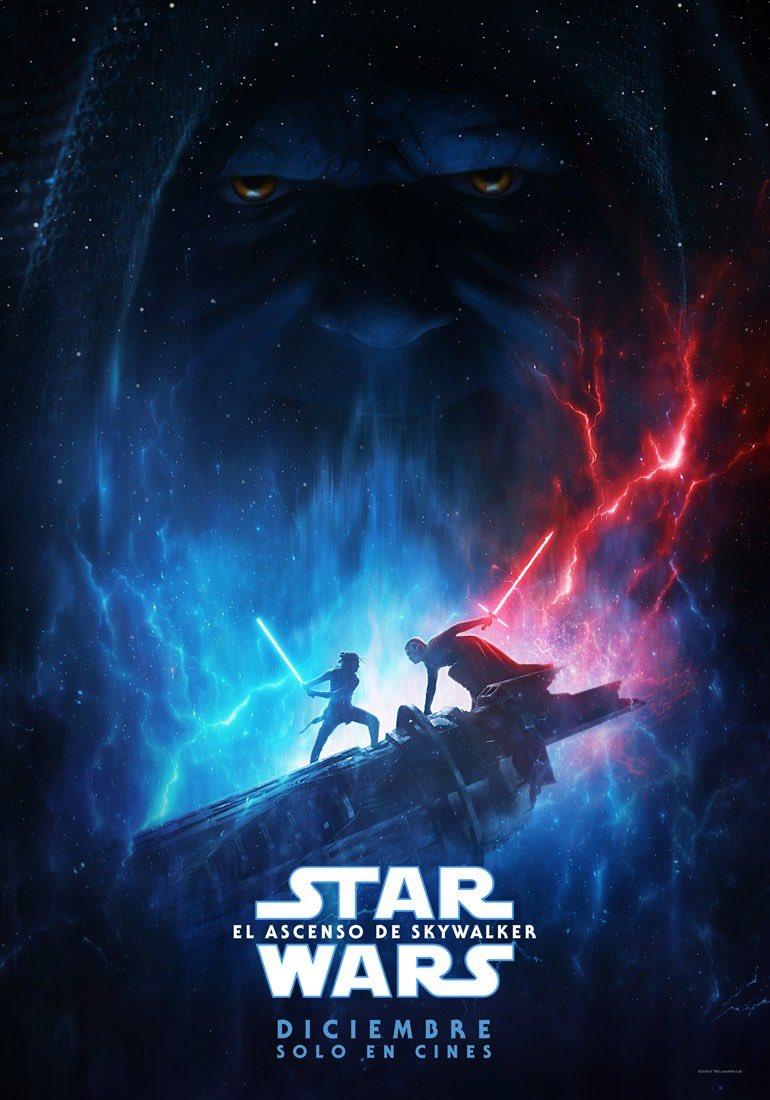 Póster en español de Star Wars: The Rise of Skywalker (2019). Imagen: Star Wars LATAM (@StarWarsLATAM).
