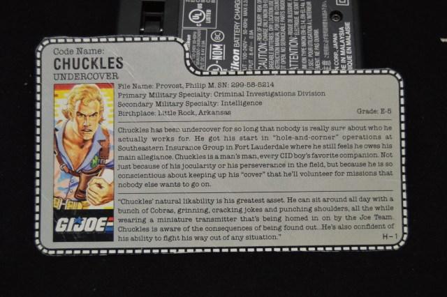 El archivo de la figura de acción de Chuckles en G.I. Joe: A Real American Hero (1987). Imagen: hotspotcollectiblesandtoys.com