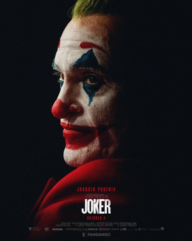 Póster de Joker (2019) para Fandango. Imagen: Fandango Twitter (@Fandango).