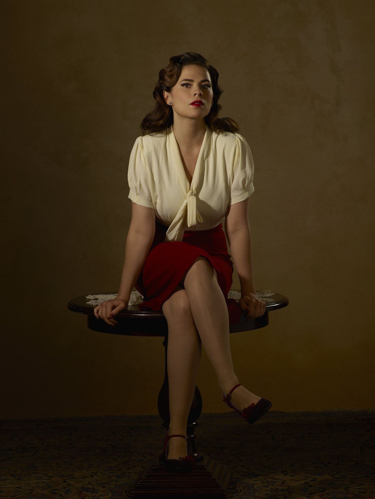 Peggy Carter (Hayley Atwell) en la serie Agent Carter (2015-2016). Imagen: pinterest.com