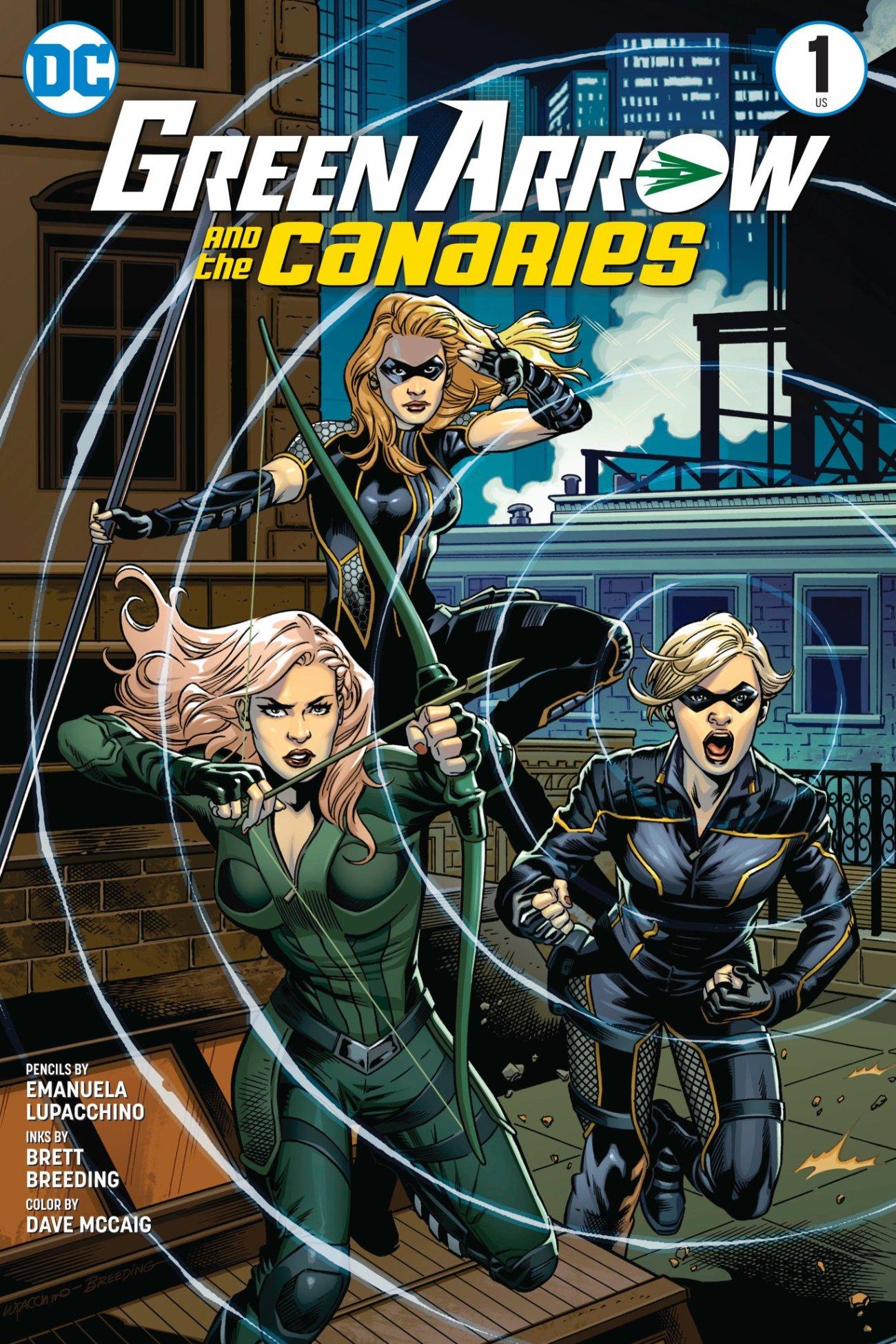 Arte promocional de Green Arrow and the Canaries. Imagen: Marc Guggenheim Twitter (@mguggenheim).