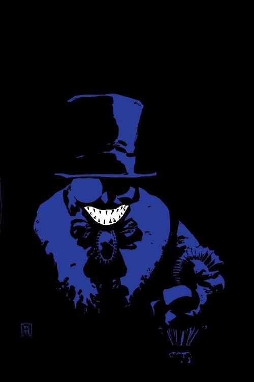 The Penguin en la portada sin texto de Batman: Dark Victory #6 (mayo de 2000). Arte por Tim Sale. Imagen: dc.fandom.com