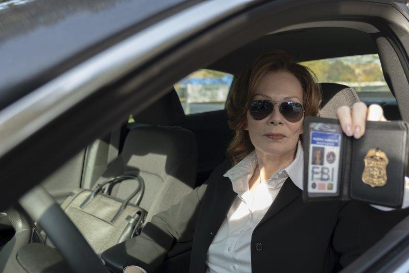 Jean Smart como Laurie Blake en Watchmen. Imagen: Mark Hill/HBO.