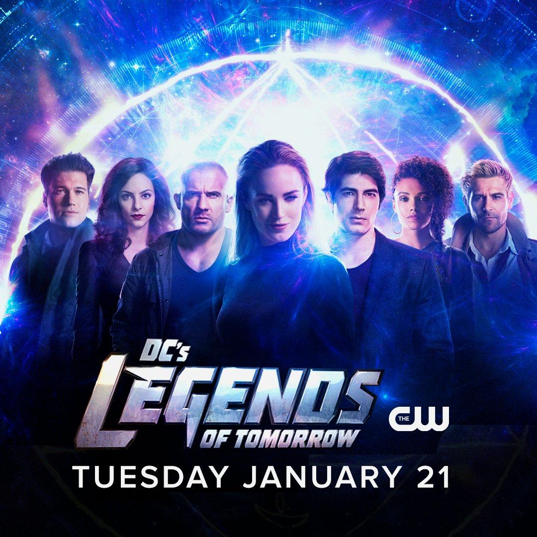 La fecha de estreno de la temporada 5 de DC's Legends of Tomorrow en The CW. Imagen: DC's Legends of Tomorrow Twitter (@TheCW_Legends).
