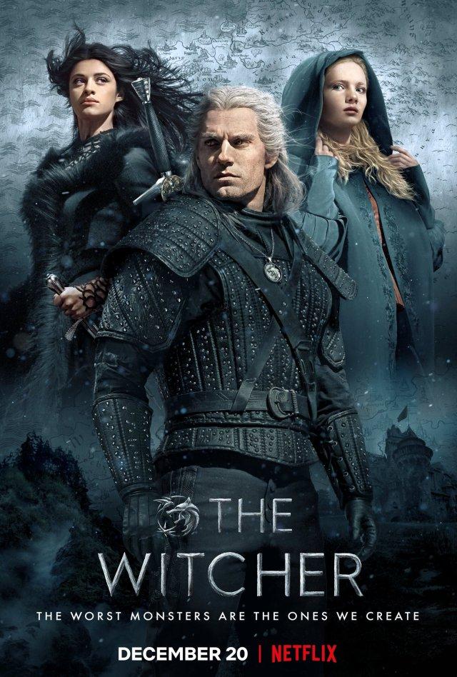 Póster de The Witcher. Imagen: The Witcher Twitter (@witchernetflix).