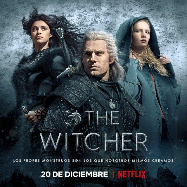 Póster en español de The Witcher. Imagen: The Witcher En Netflix Twitter (@WitcherEnNFLX).