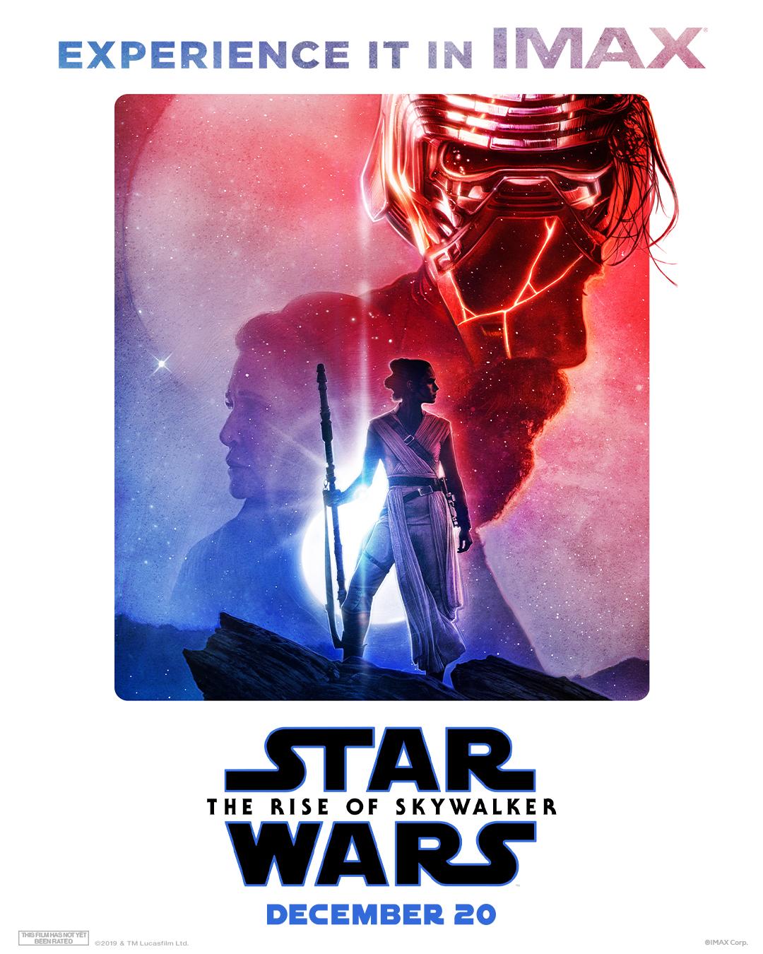 Póster IMAX de Star Wars: The Rise of Skywalker (2019). Imagen: IMAX Twitter (@IMAX).
