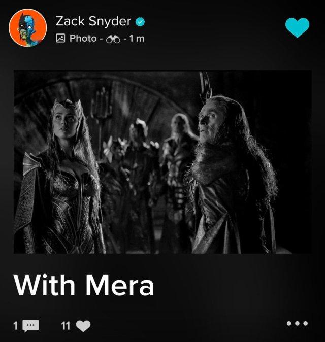 Amber Heard como Mera y Willem Dafoe como Nuidis Vulko en el Snyder Cut de Justice League (2017). Imagen: DC_Cinematic Reddit