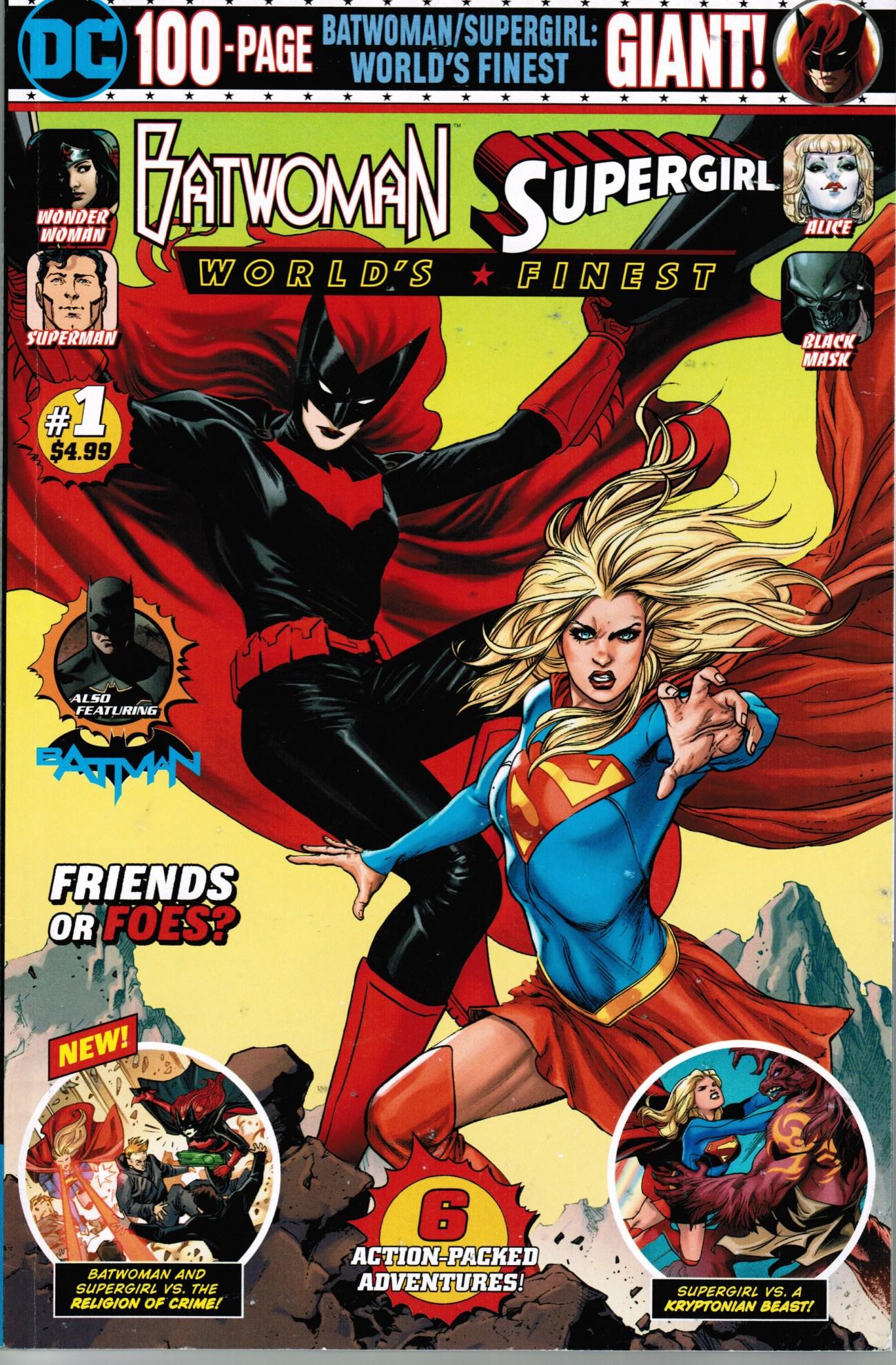 Portada variante de Batwoman/Supergirl: World's Finest Giant #1 (diciembre de 2019). Imagen: dc.fandom.com