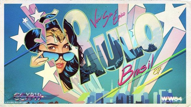 Tarjeta postal de Wonder Woman 1984 (2020) en CCXP 2019. Imagen: Patty Jenkins Twitter (@PattyJenks).