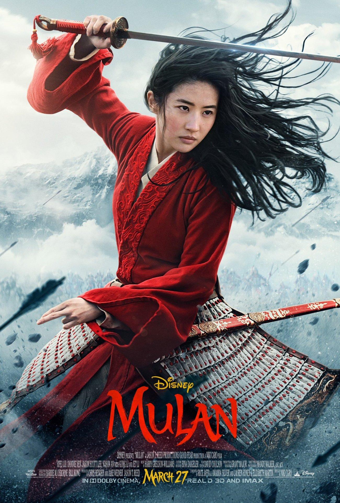 Póster de Mulan (2020). Imagen: Mulan Twitter (@DisneysMulan).