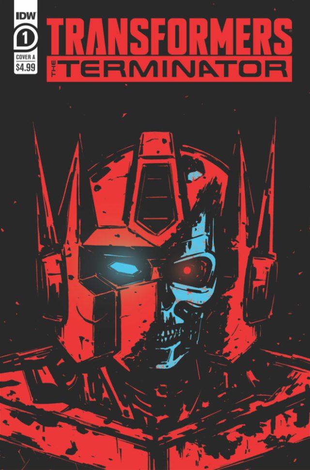 Portada de Transformers vs. The Terminator #1 (marzo de 2020) por Gavin Fullerton. Imagen: IDW Publishing