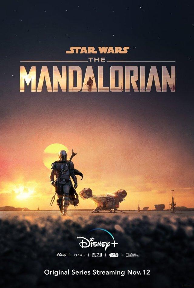 Póster de The Mandalorian en D23 Expo. Imagen: StarWars.com