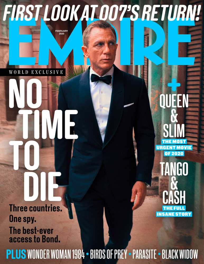 Daniel Craig como James Bond en la portada de Empire (febrero de 2020). Imagen: Empire Magazine