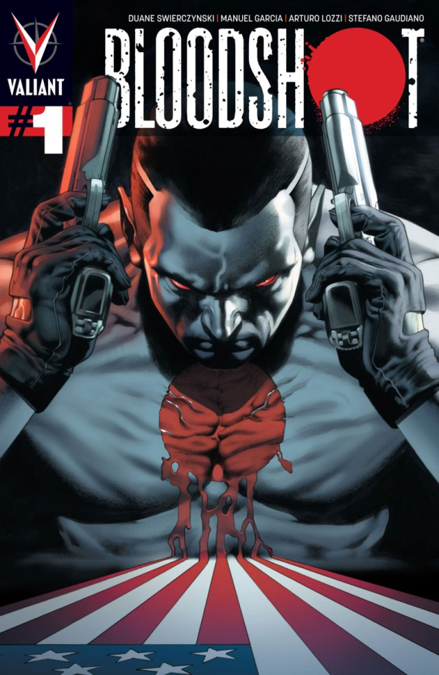 Portada de Bloodshot #1 (julio de 2012). Imagen: Comic Vine