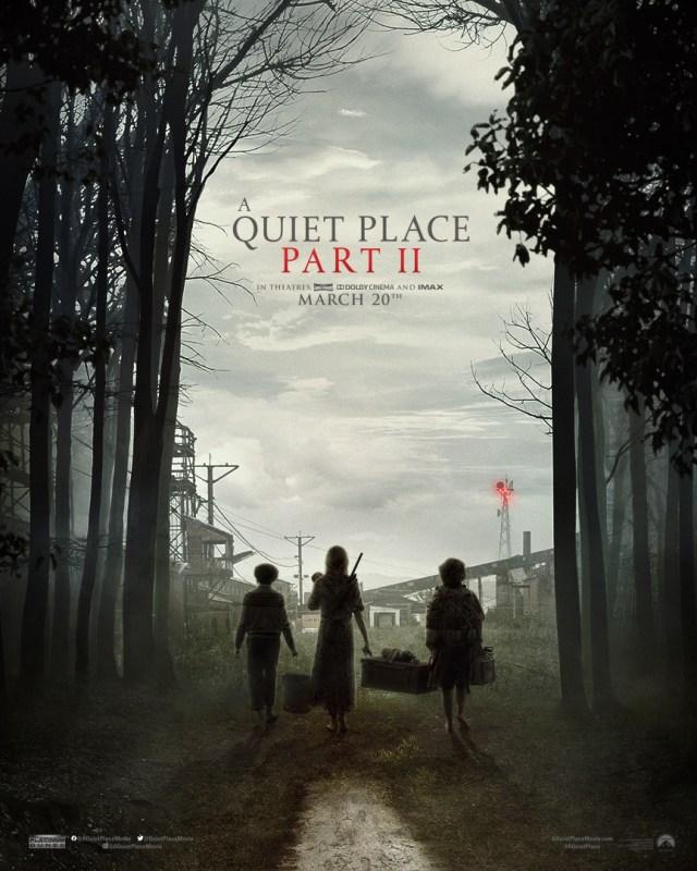 Póster de A Quiet Place Part II (2020). Imagen: A Quiet Place Part II Twitter (@aquietplacemovie).