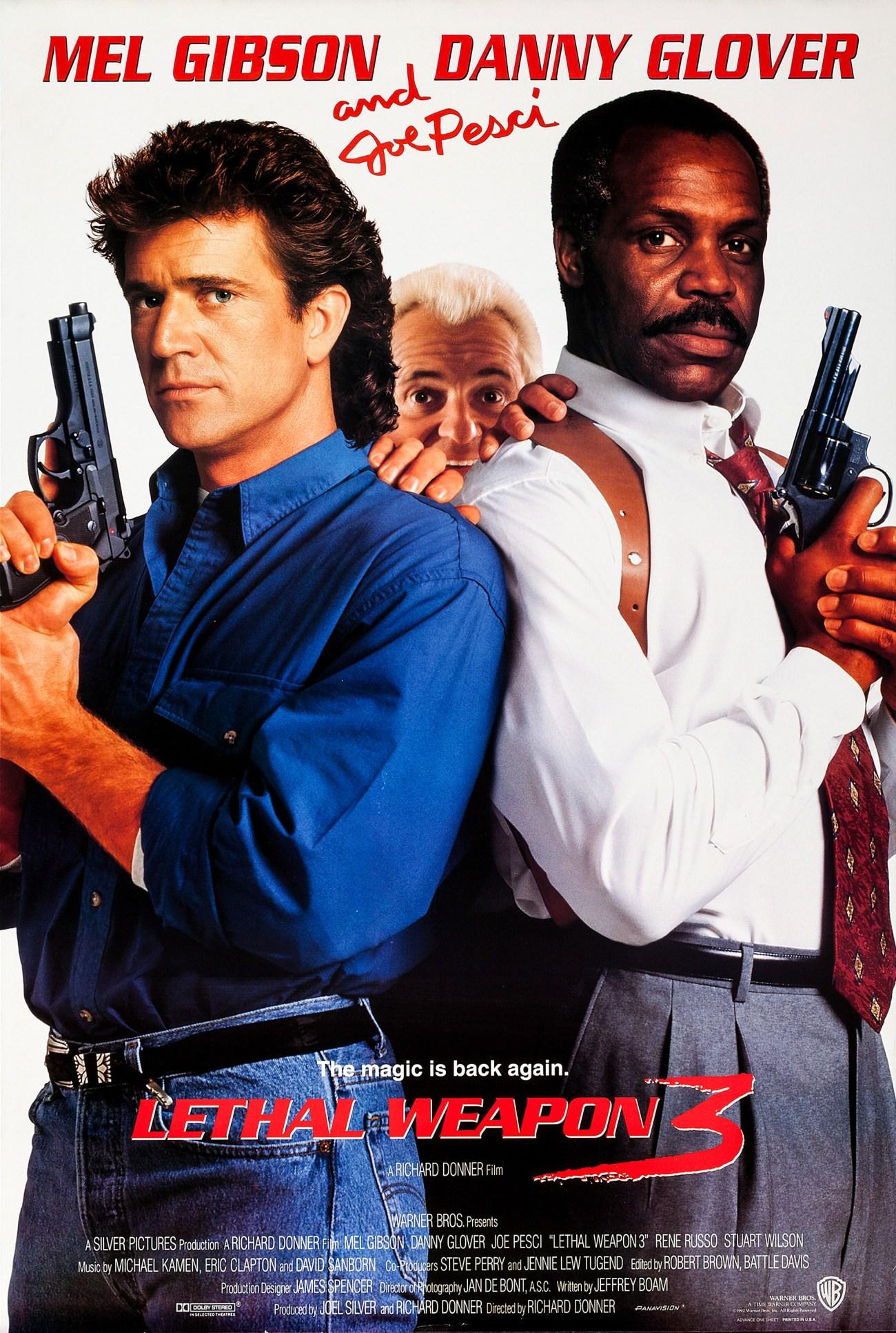 Póster de Lethal Weapon 3 (1992). Imagen: impawards.com