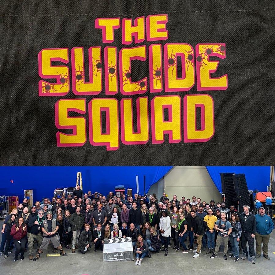 El elenco y el equipo de The Suicide Squad (2021). Imagen: James Gunn Instagram (@jamesgunn).