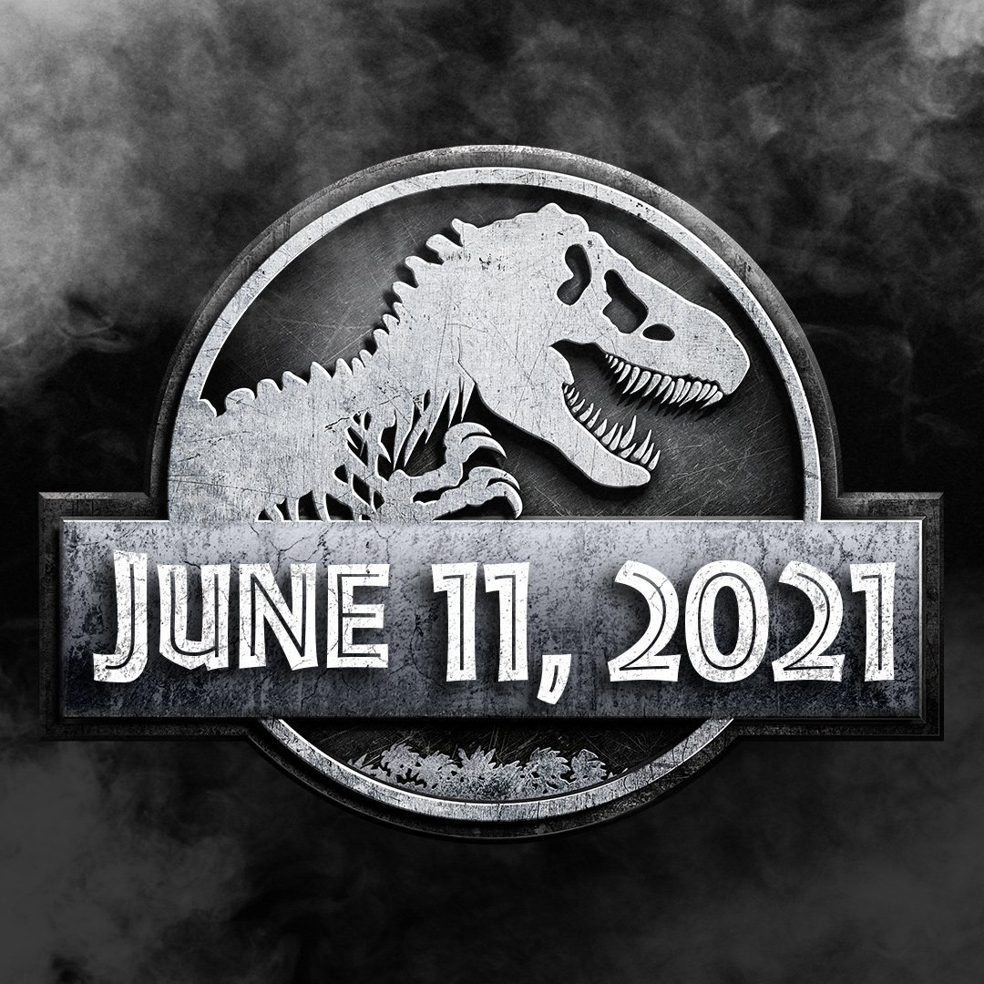 La fecha de estreno de Jurassic World: Dominion (2021). Imagen: Jurassic World Twitter (@JurassicWorld).