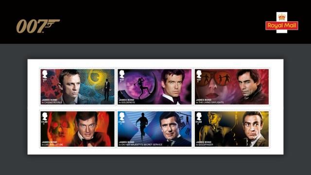 Los rostros cinematográficos de James Bond: Daniel Craig, Pierce Brosnan, Timothy Dalton, Roger Moore, George Lazenby, Sean Connery. Imagen: 007 Twitter (@007).
