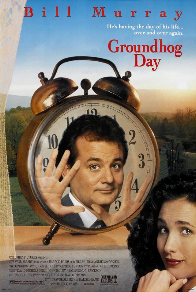 Póster de Groundhog Day (1993). Imagen: impawards.com