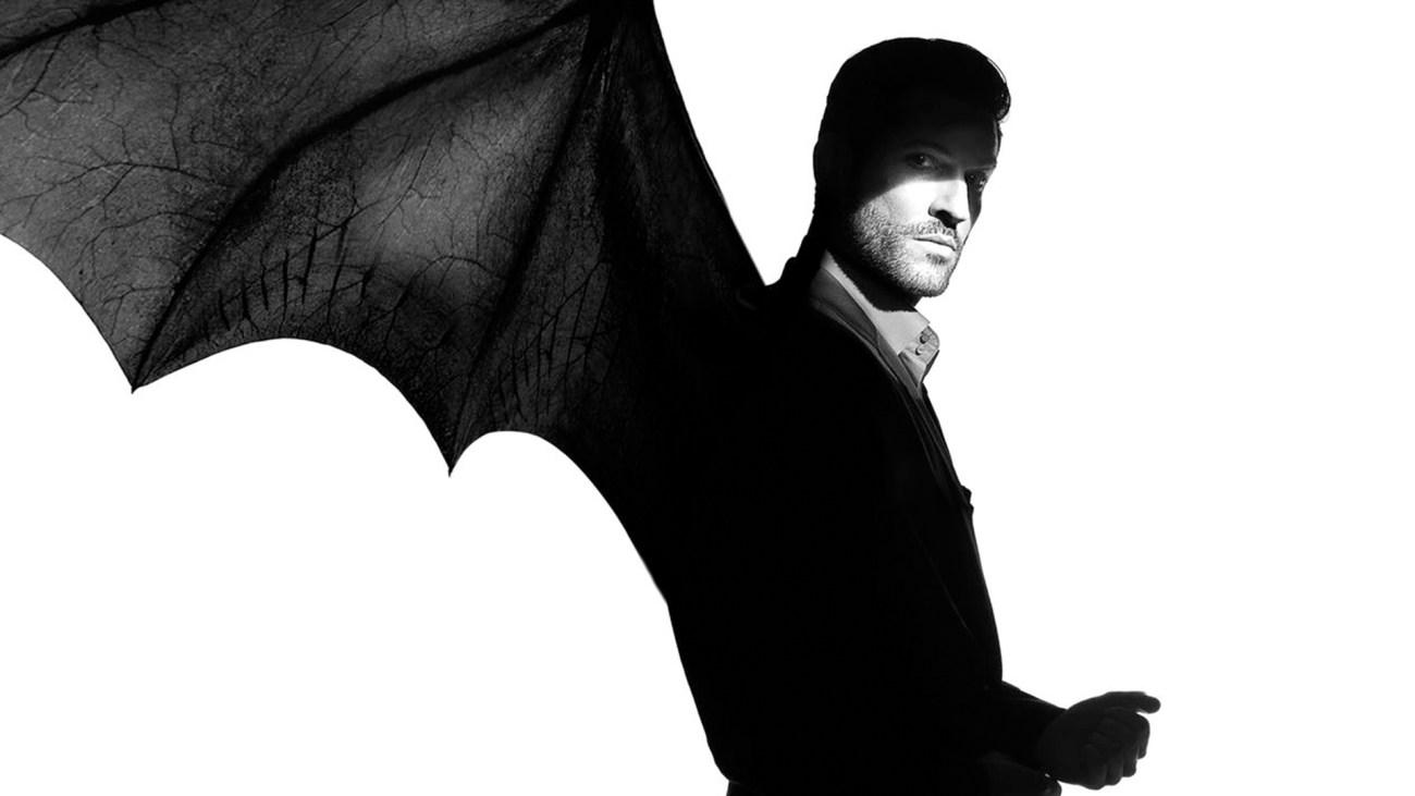 Lucifer Morningstar (Tom Ellis) en arte de la temporada 4 de Lucifer. Imagen: fanart.tv