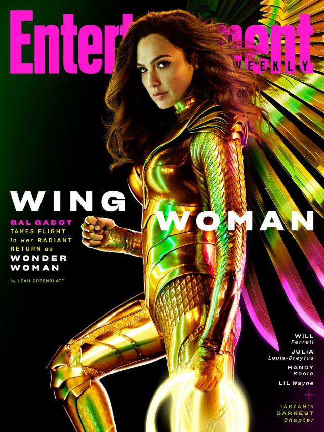 Gal Gadot como Wonder Woman en la portada de Entertainment Weekly (marzo de 2020). Imagen: Warner Bros. Pictures/DC Comics/EW