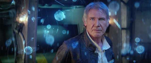 Han Solo (Harrison Ford) en Star Wars: The Force Awakens (2015). Imagen: StarWars.com