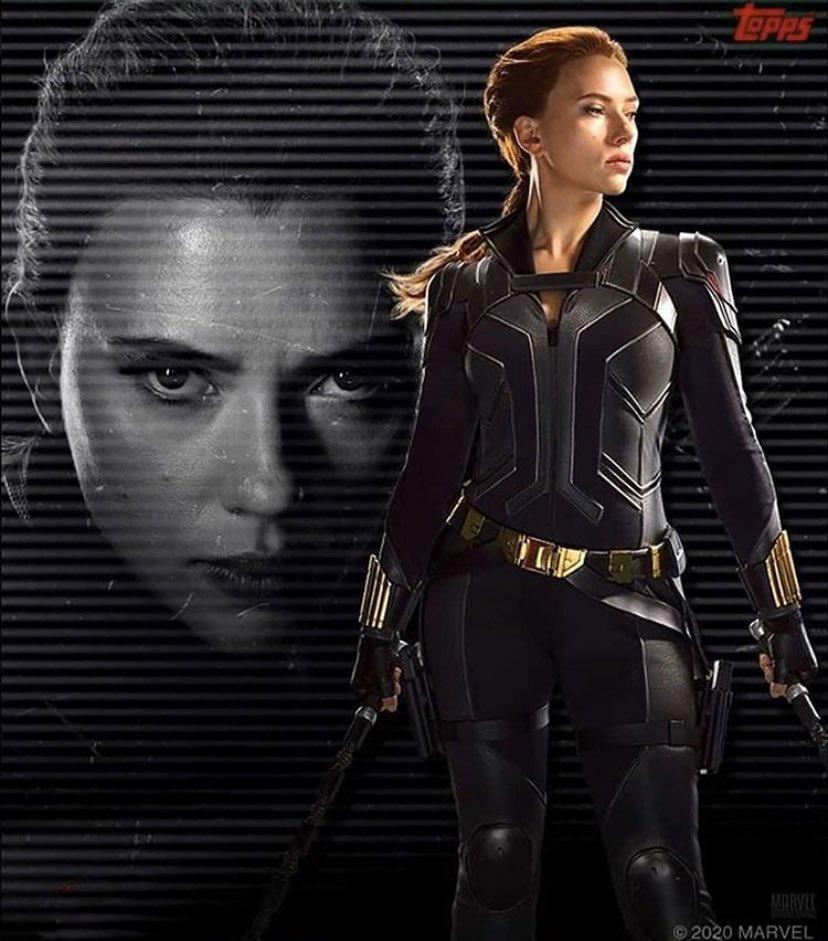 Scarlett Johansson como Natasha Romanoff/Black Widow en una tarjeta coleccionable de Black Widow (2020). Imagen: Black Widow Movie Twitter (@BlackWidow_Film).