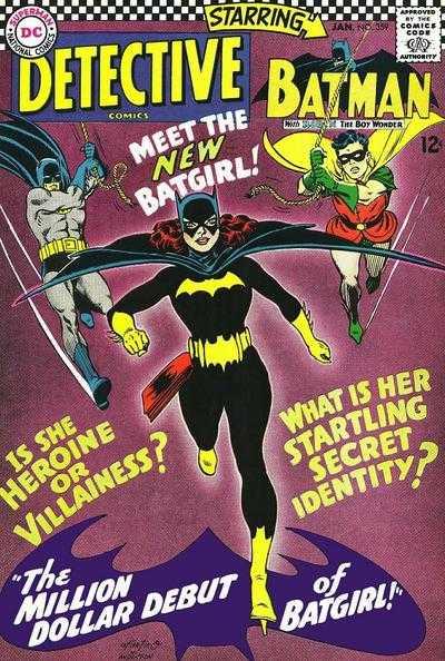 Portada de Detective Comics #359 (enero de 1967), la primera aparición de Barbara Gordon/Batgirl. Imagen: Comic Vine