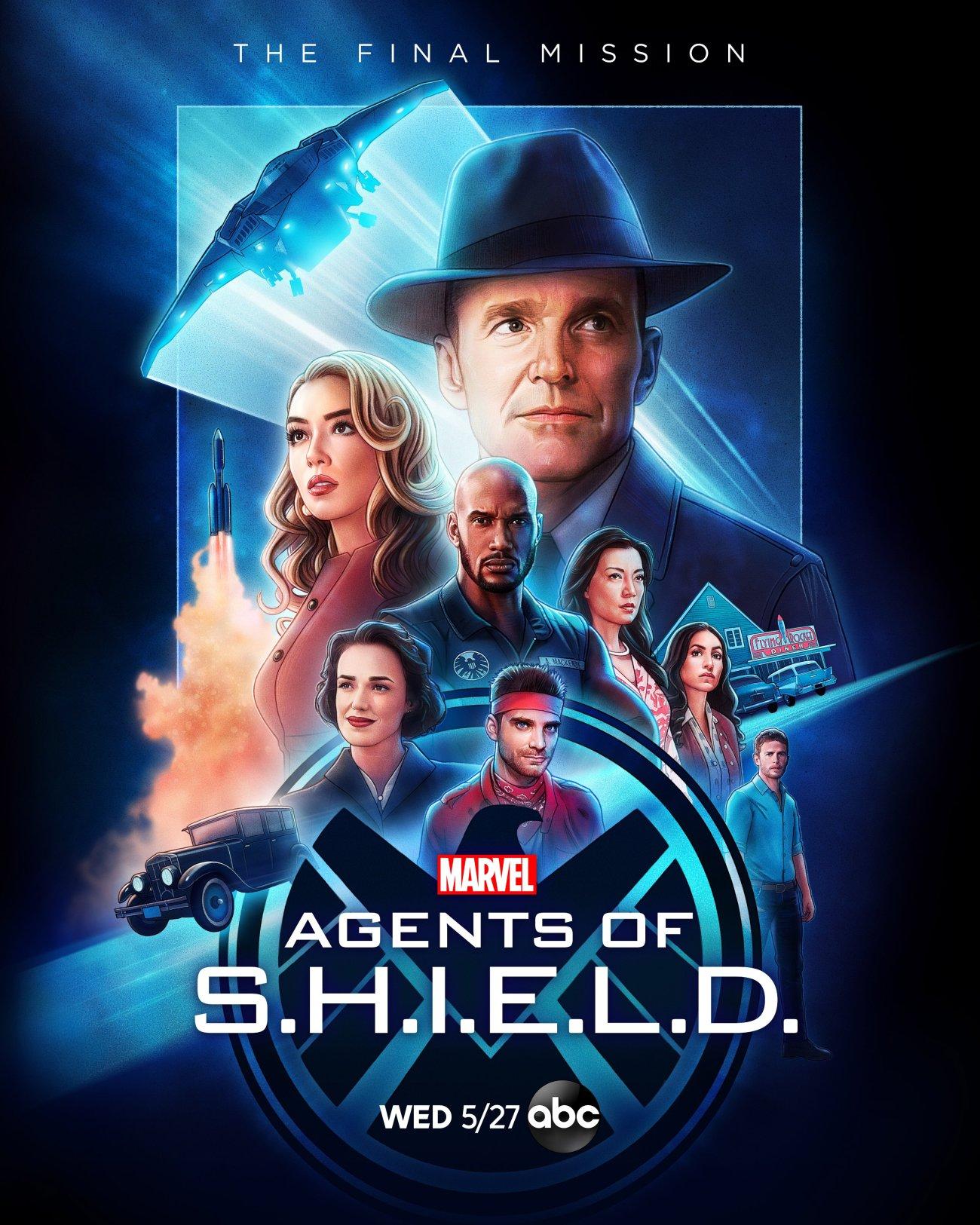 Póster de la temporada 7 de Agents of S.H.I.E.L.D. por Kyle Lambert. Imagen: Marvel's Agents of S.H.I.E.L.D. Twitter (@AgentsofSHIELD).