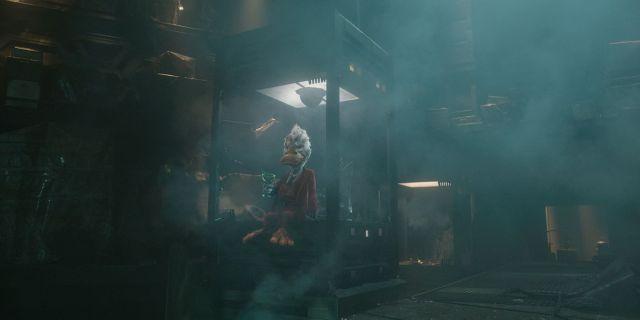 Howard the Duck (voz de Seth Green) en Guardians of the Galaxy (2014). Imagen: Comic Book Resources