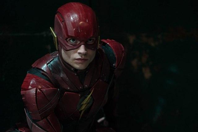 Ezra Miller como Flash en Justice League (2017). Imagen: Clay Enos/Warner Bros. Entertainment