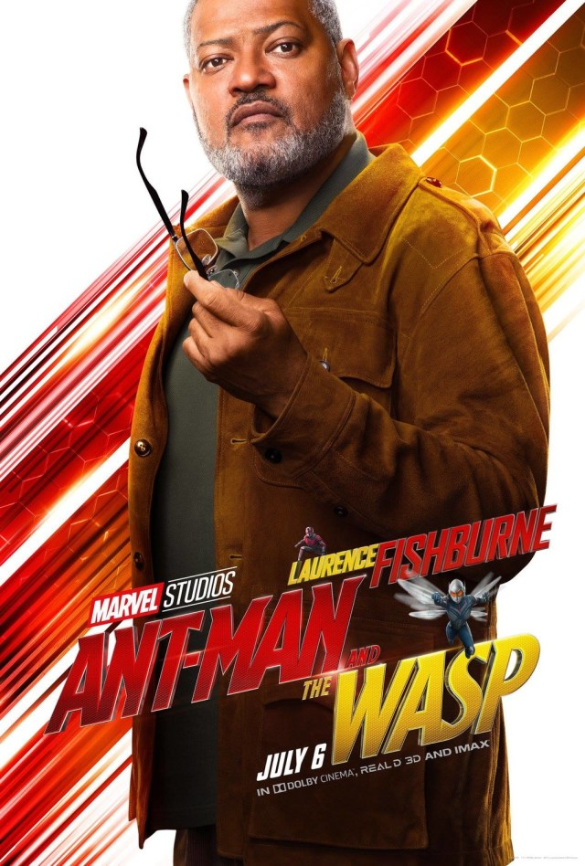 Laurence Fishburne como Bill Foster en un póster de Ant-Man and the Wasp (2018). Imagen: impawards.com