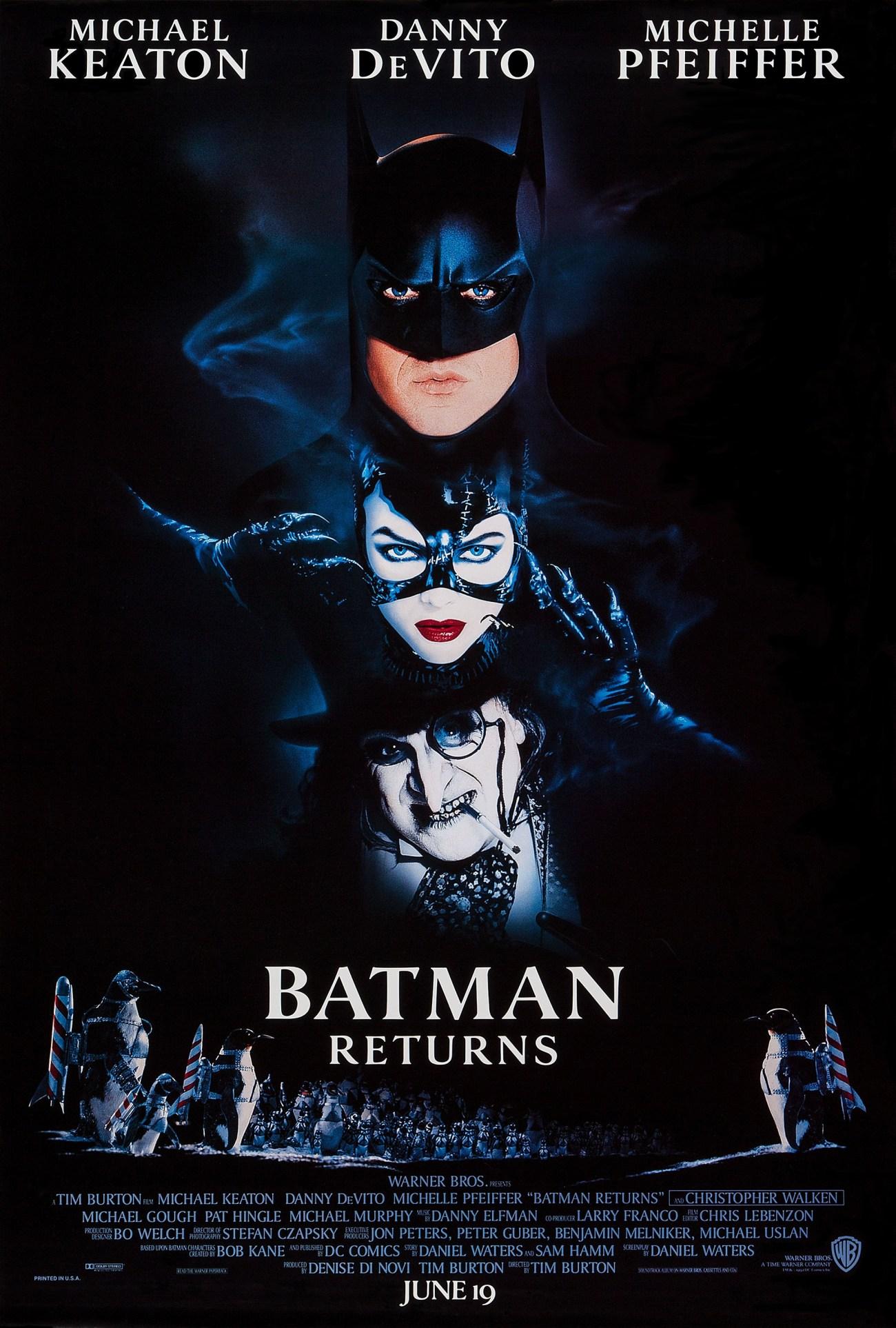 Póster de Batman Returns (1992). Imagen: impawards.com