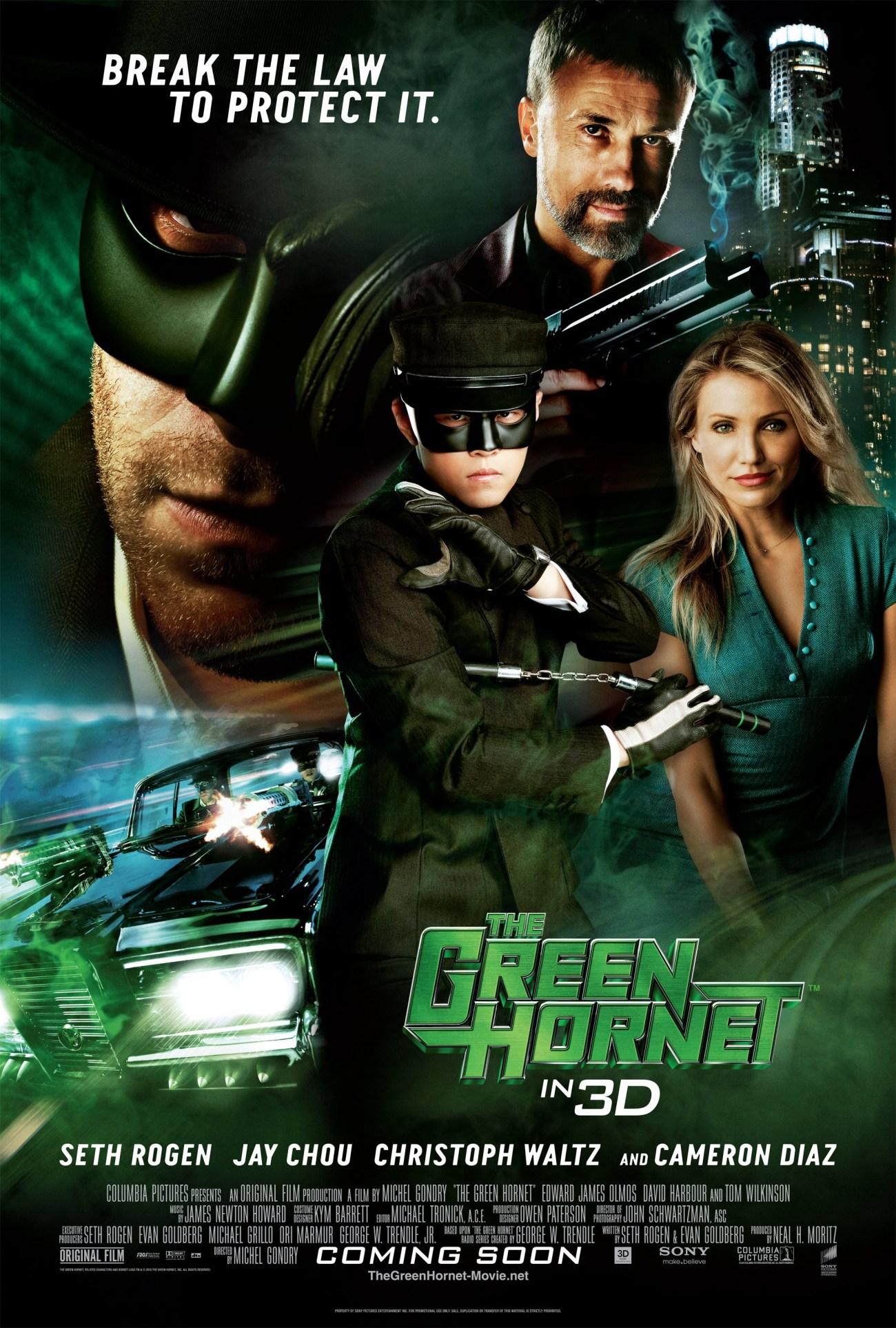 Póster de The Green Hornet (2011). Imagen: impawards.com