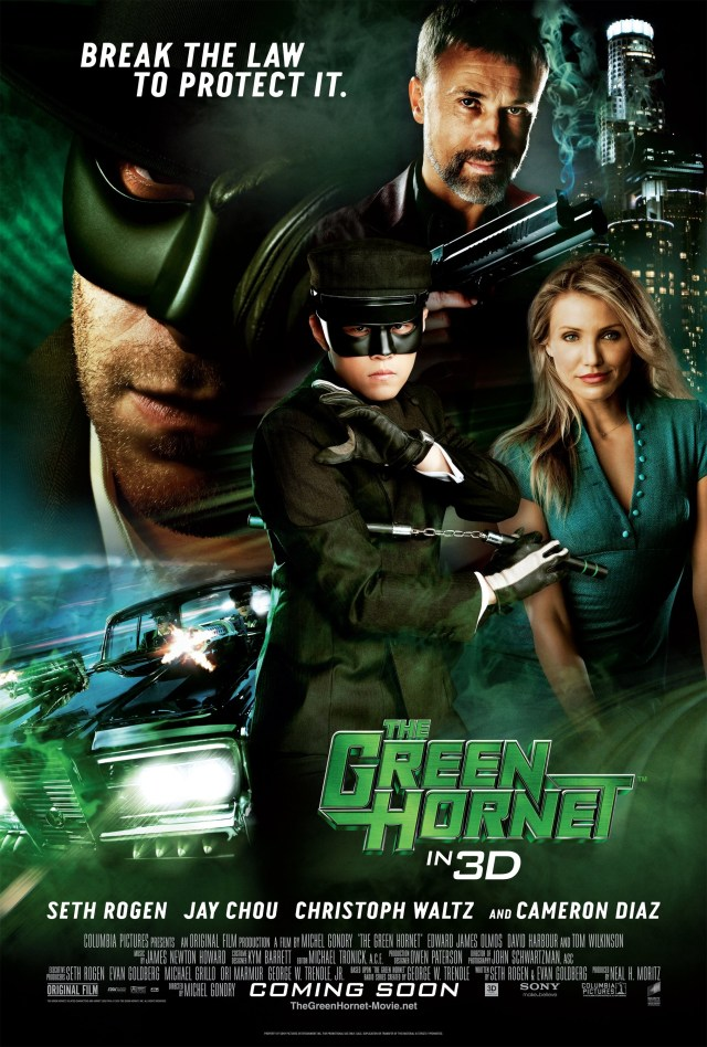 Póster de The Green Hornet (2011). Imagen: impawards.com